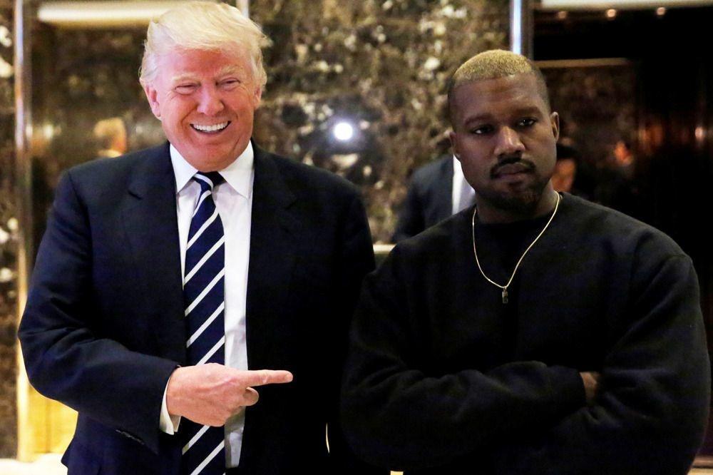 Kanye West en visite chez Trump, en 2016, Reuters
