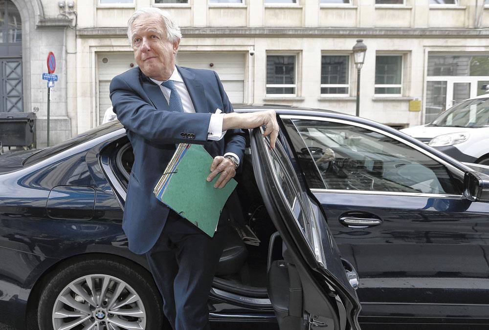 Daniel Bacquelaine, ministre fédéral (MR) des Pensions., NICOLAS MAETERLINCK/BELGAIMAGE