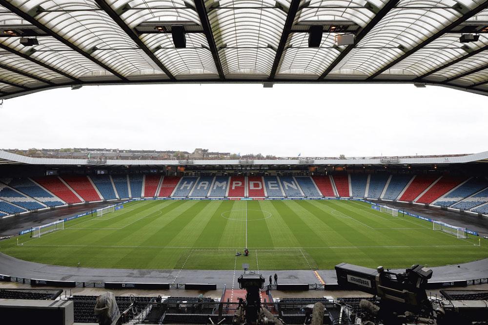 Glasgow GROUPE D HAmpden park capacité 52 500 3 matchs de groupe 1 huitième finale, belgaimage