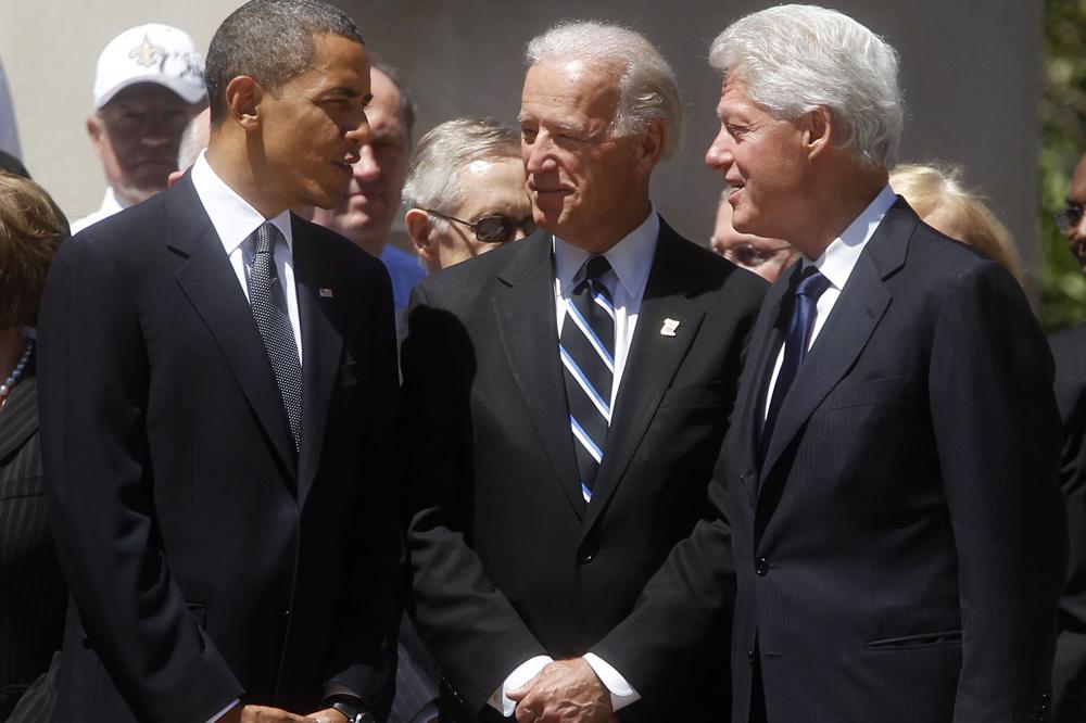 Obama, Biden, Clinton, Reuters