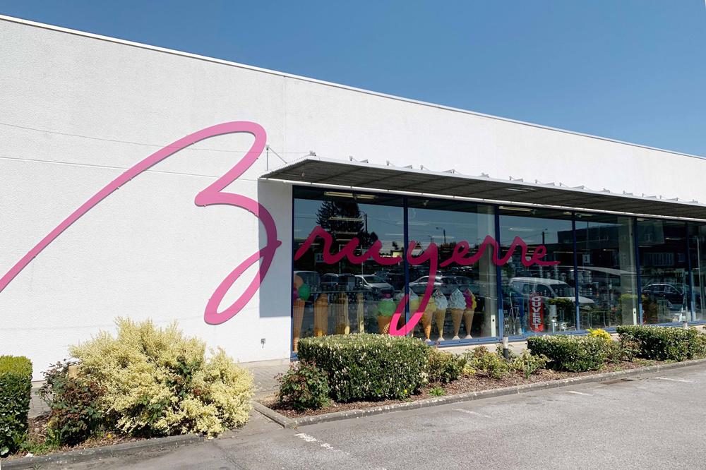 Le magasin de Gosselies, à côté du siège central de la société. Comme les trois autres points de vente, il est également accessible aux particuliers., Bruyerre