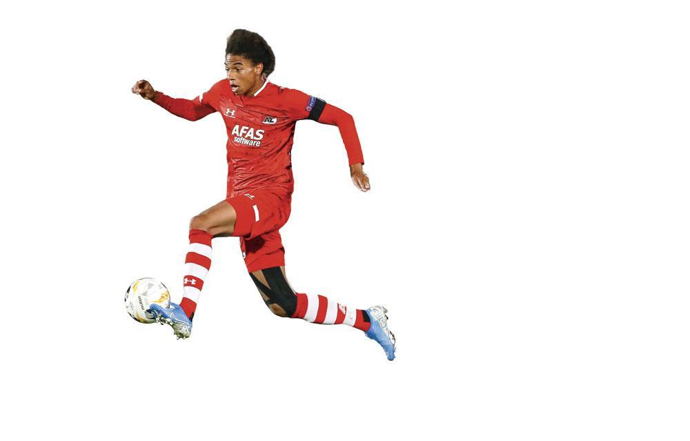 Calvin Stengs, l'un des produits de l'AZ récemment appelé en équipe nationale néerlandaise., BELGAIMAGE