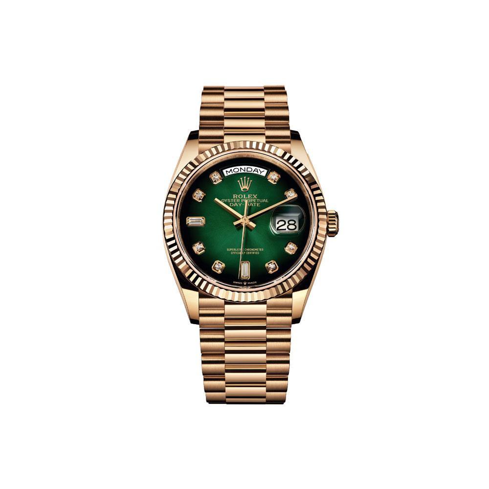 Montre automatique Day-Date 36, en or jaune, avec bracelet en or jaune, Rolex, 32 000 euros., SDP