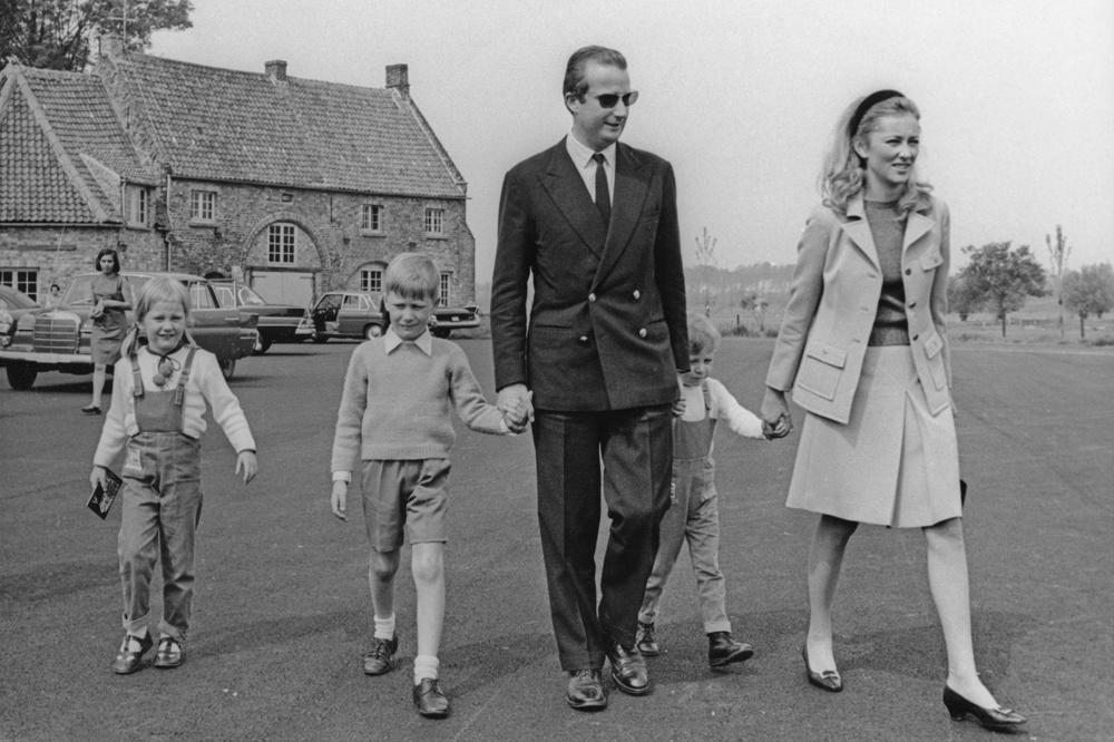 Albert, entouré de ses enfants Laurent, Philippe, Astrid et de son épouse Paola, en juin 1967, Getty Images