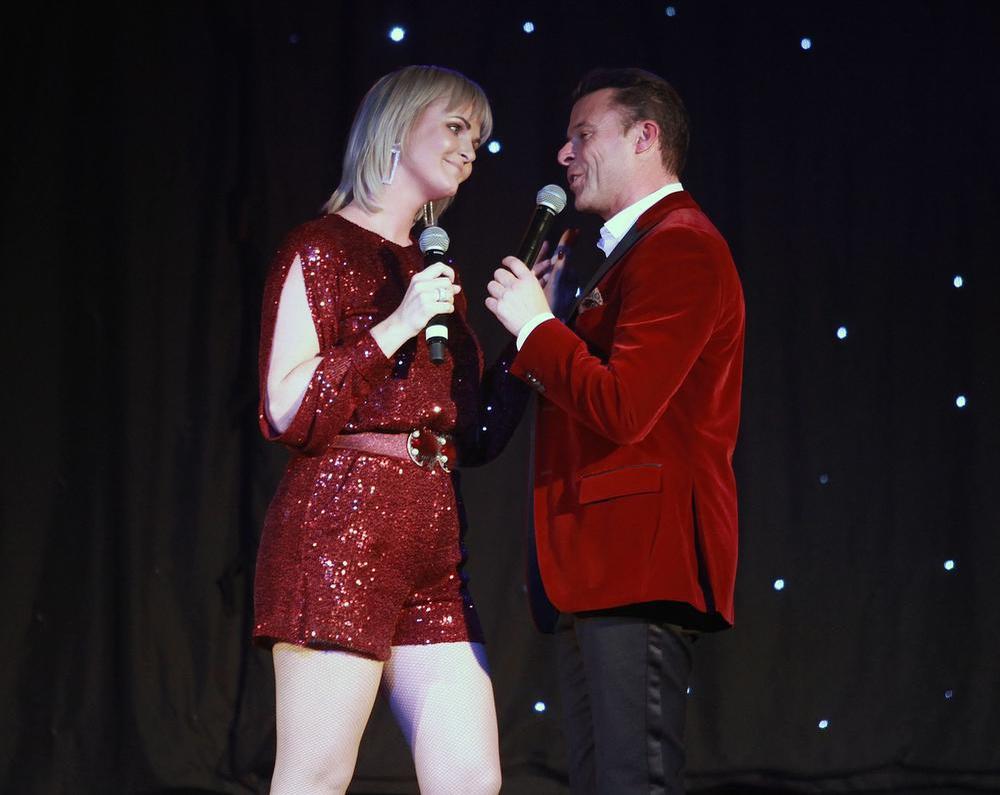 Eveline én Filip tijdens hun optreden., FODI/Daniël