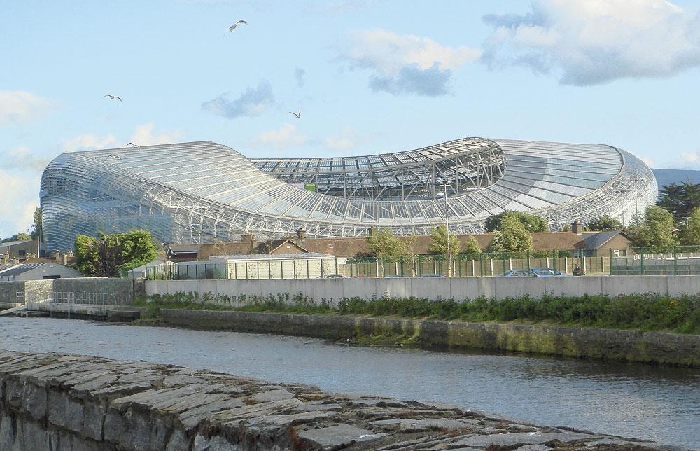 Dublin GROUPE E aviva stadium capacité 51 700 3 matchs de groupe 1 huitième finale, belgaimage