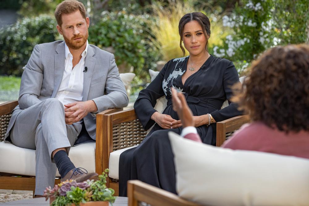 Harry et Meghan face à Oprah Winfrey, Getty Images