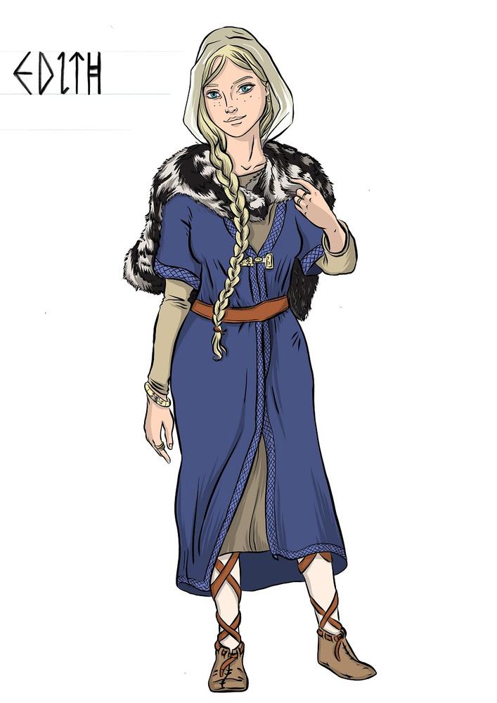 Personnage fictif de la princesse saxonne de Tournai., C. Volon (MRM)