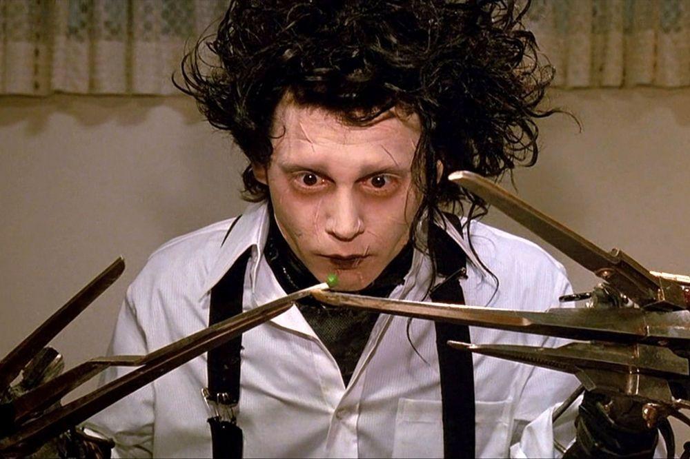 Johnny Depp dans Edward aux mains d'argent de Tim Burton, DR