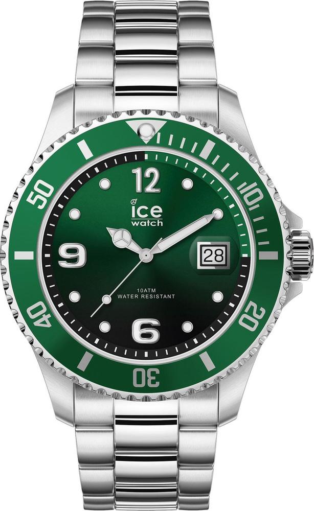 Montre automatique ICE steel - Green silver medium, en acier inoxydable, avec bracelet en acier inoxydable, Ice-Watch, 149 euros., SDP