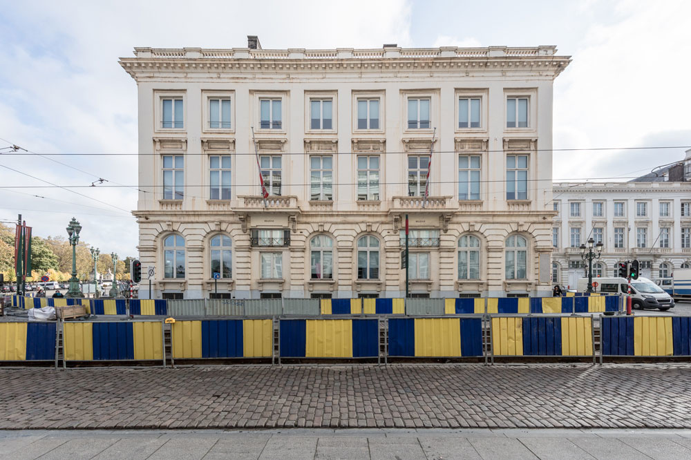 Hotel Belvue, Koningsplein in Brussel., Alexander Dumarey