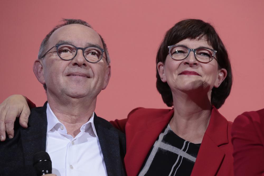 Norbert Walter-Borjans et Saskia Esken, AFP