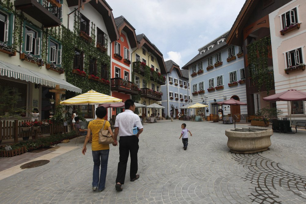 Hallstatt replica in China, Reuters