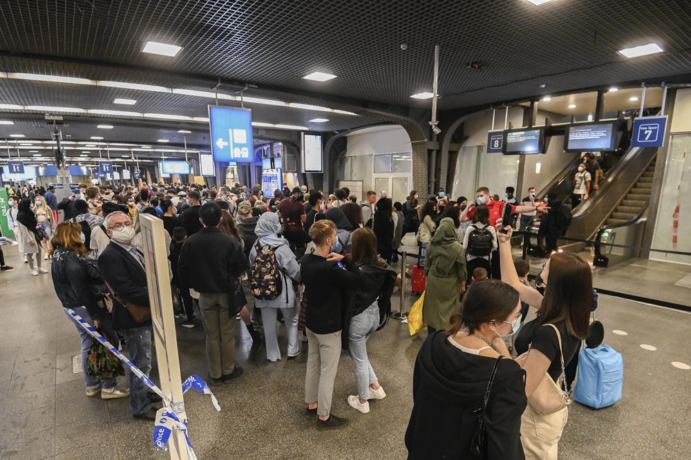 Gare du Midi le 30 mars 2021, Belga Images