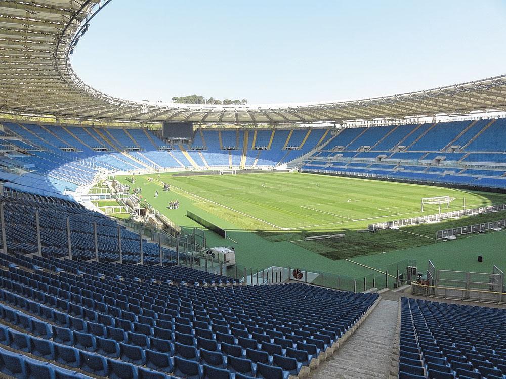 Rome GROUPE A stadio Olimpico capacité 72 689 3 matchs de groupe 1 quart de finale, belgaimage