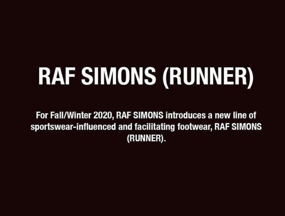 Capture d'écran du compte Instagram de Raf Simons, Instagram