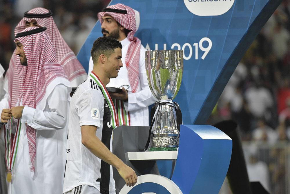 Cristiano Ronaldo a inscrit en janvier passé le seul but de la Supercoupe italienne entre la Juve et l'AC Milan, délocalisée en Arabie saoudite., belgaimage