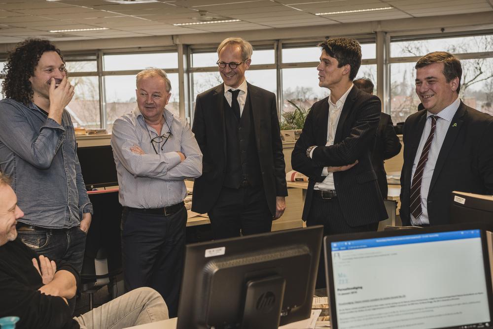 Minister van Media Benjamin Dalle bracht donderdagmiddag een bezoekje aan de redactie RSL., Olaf Verhaeghe