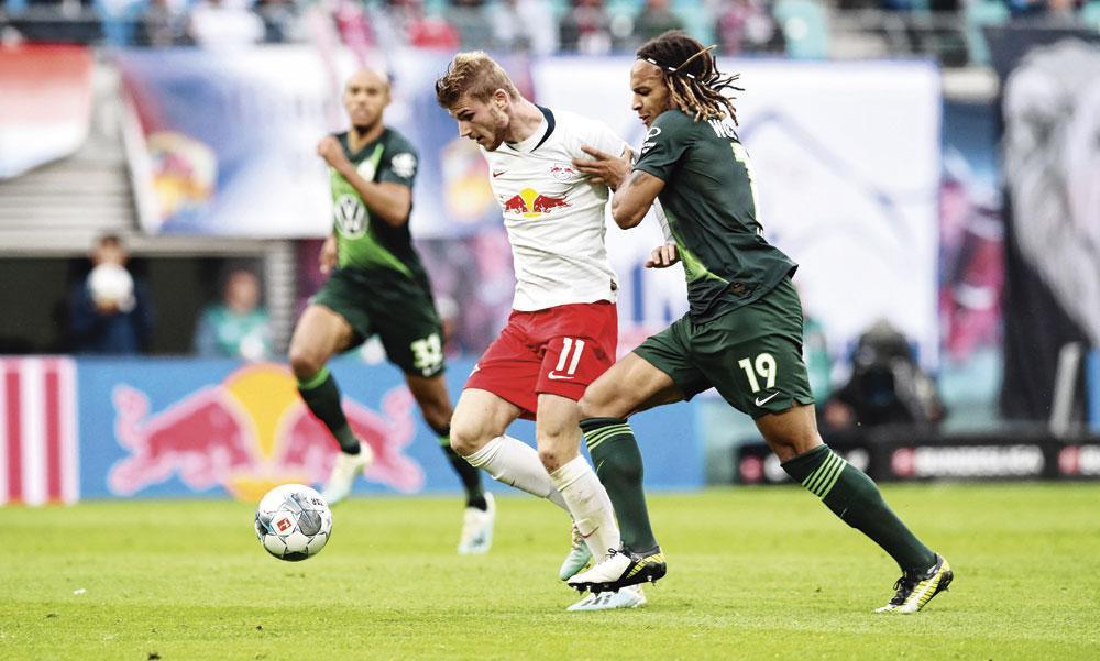 Timo Werner, figure de proue du RB Leipzig, seul club  de l'ancienne RDA à avoir trouvé sa voie suite à la Réunification., belgaimage