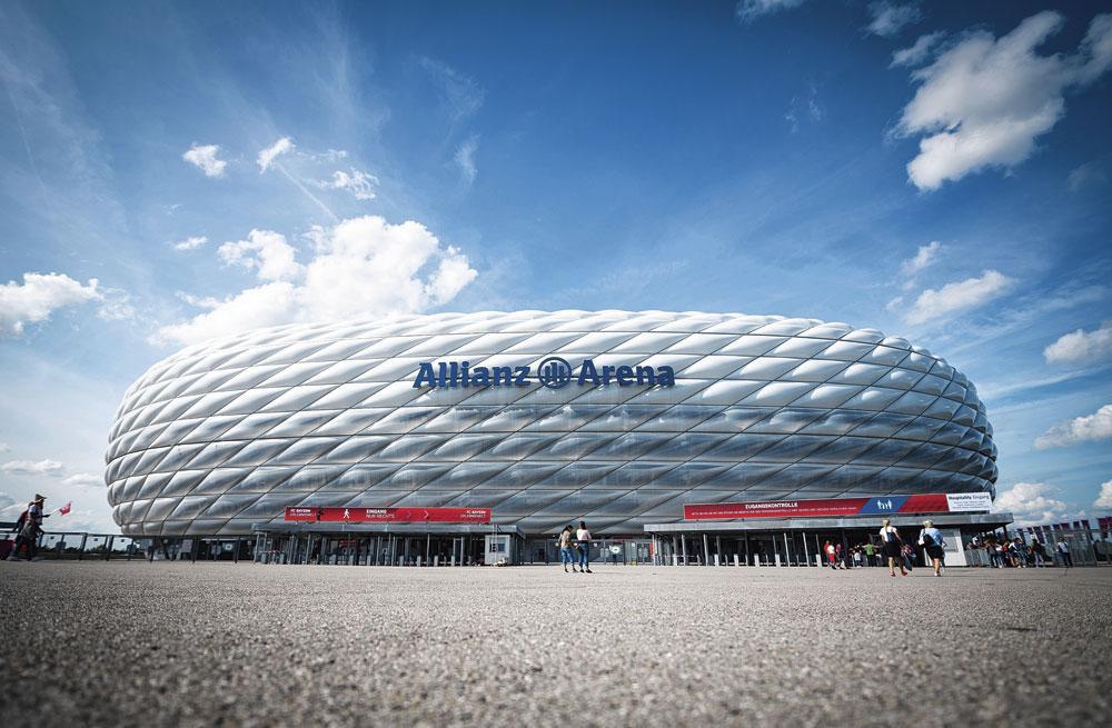 Munich GROUPE F allianz arena capacité 70 000 3 matchs de groupe 1 quart de finale, belgaimage