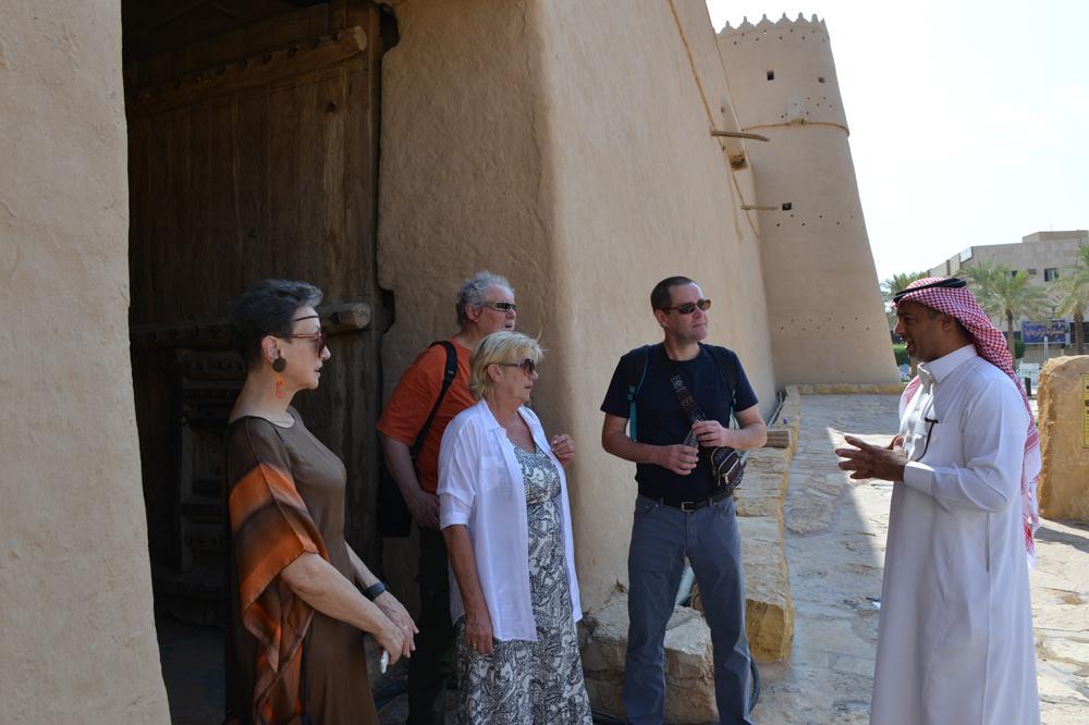 Touristes polonais au Fort de Masmak, AFP