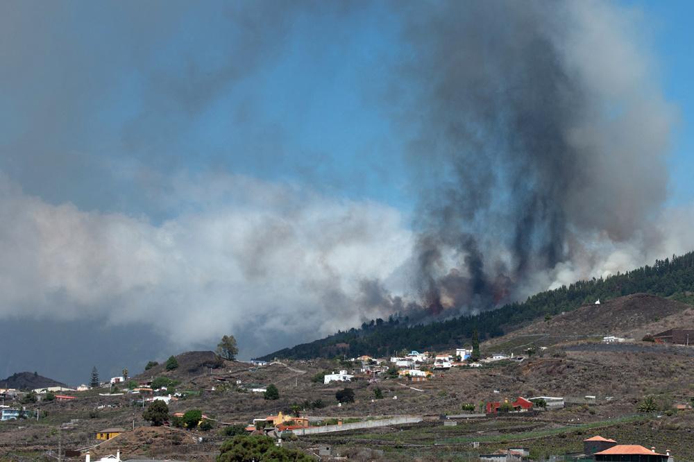 Le volcan Cumbre Vieja, Getty
