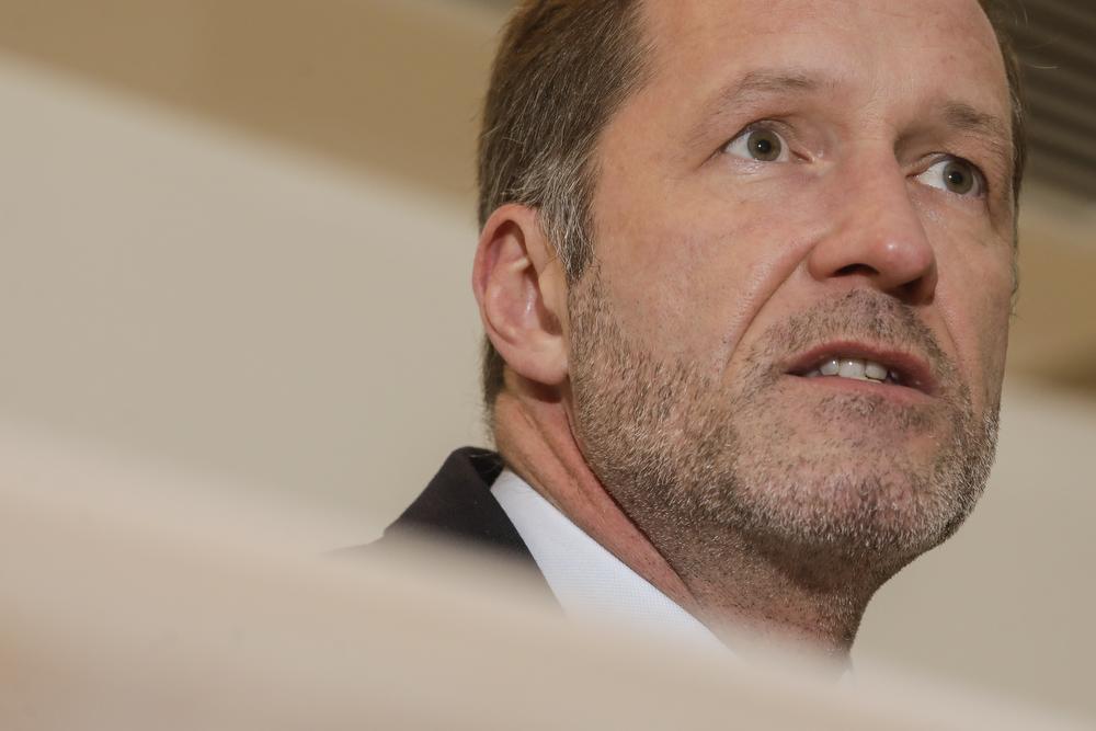 Informateur en PS-voorzitter Paul Magnette., BELGA