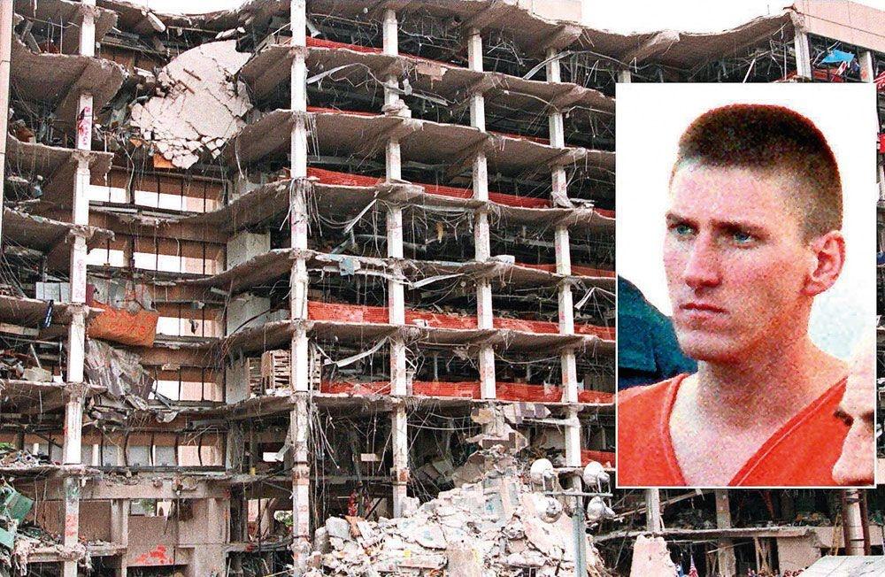 Le 19 avril 1995, à Oklahoma City, l'attentat perpetré par Timothy McVeigh fait 168 morts., P. BUCK ET B. DAEMMERICH/AFP