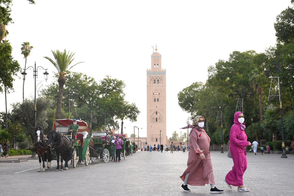 Place Jemaa el-Fna au printemps 2021, Belga Images