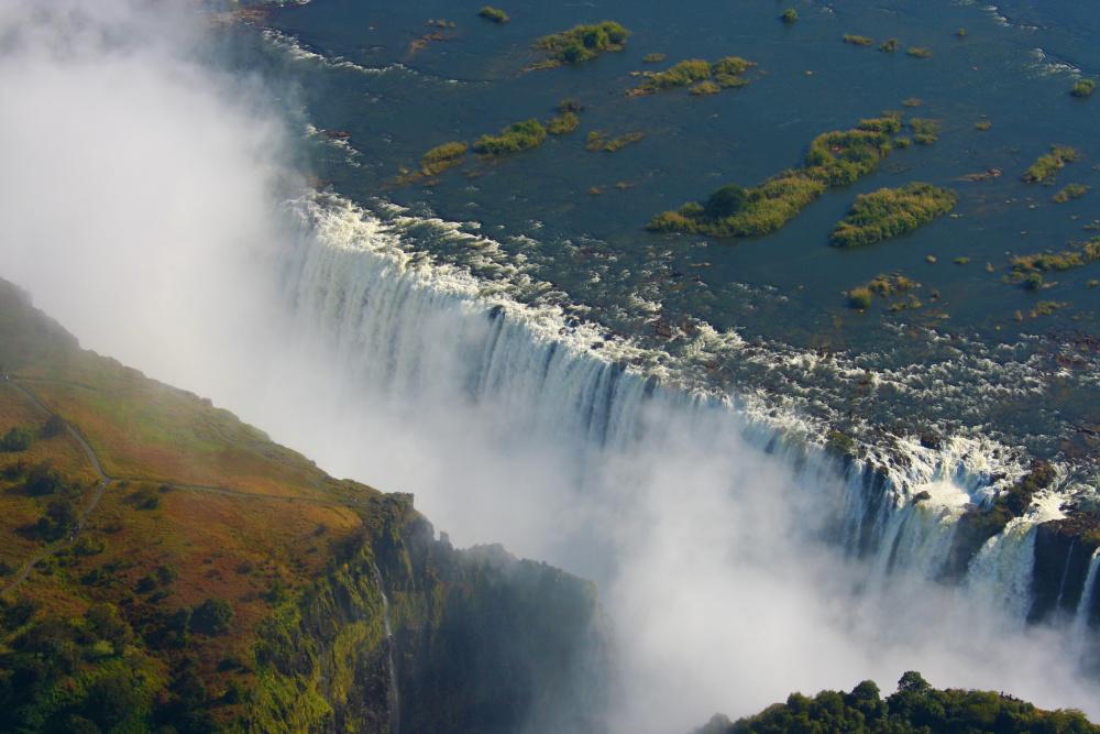 Zo zouden de Victoria Falls eruit moeten zien., Getty Images