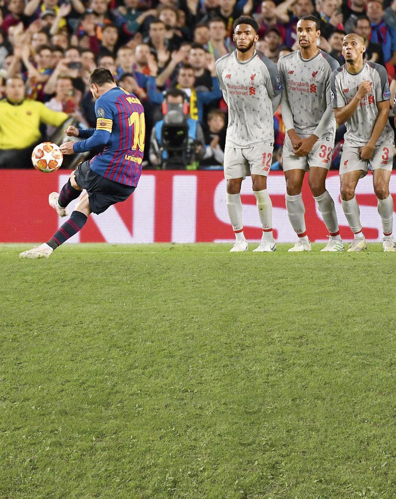 Messi a déjà converti une cinquantaine de coups francs et le graphique du nombre de ses réalisations annuelles révèle une courbe toujours ascendante., GETTY