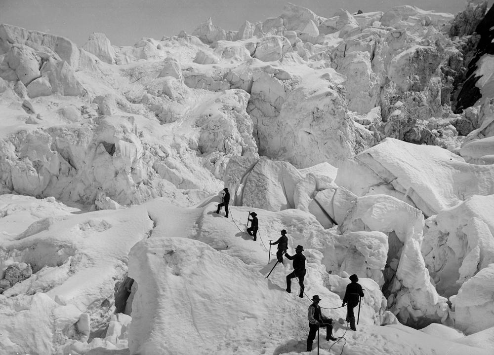 Ascension du Mont Blanc au tout début du XXe siècle, Getty Images