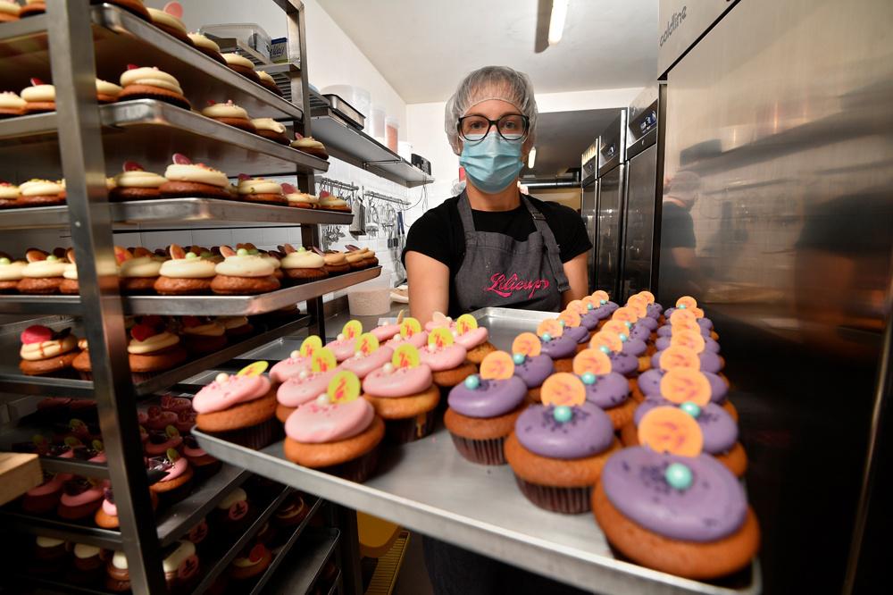 Nolwenn Le Bonzec, infirmière reconvertie dans la pâtisserie, AFP