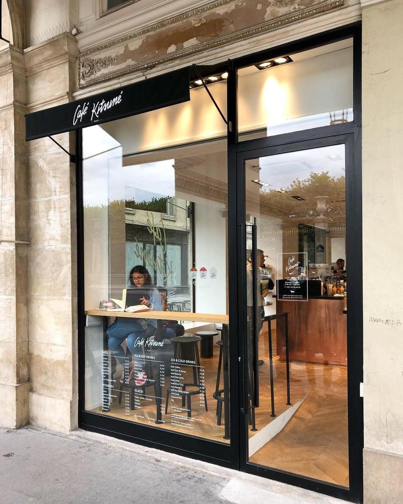 Het Café Kitsuné in de rue de Rivoli in Parijs., Kitsuné