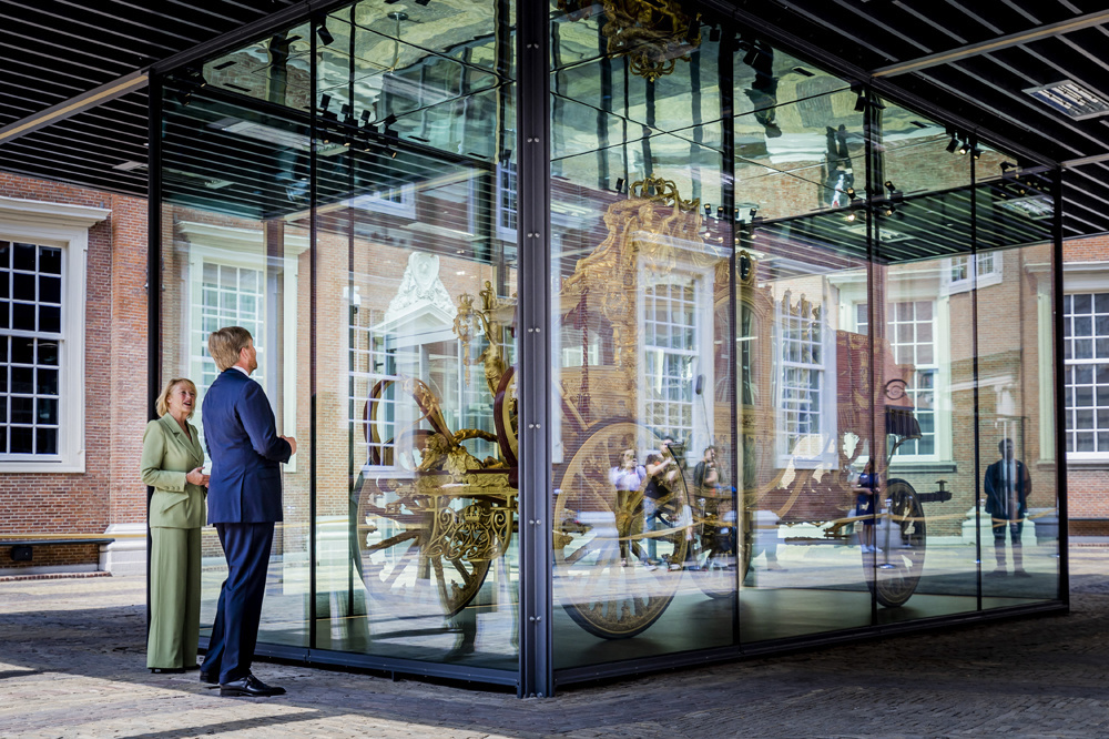 """Le """"Gouden Koets"""" carrosse royale des Pays-Bas, exposé, Belga Images"""