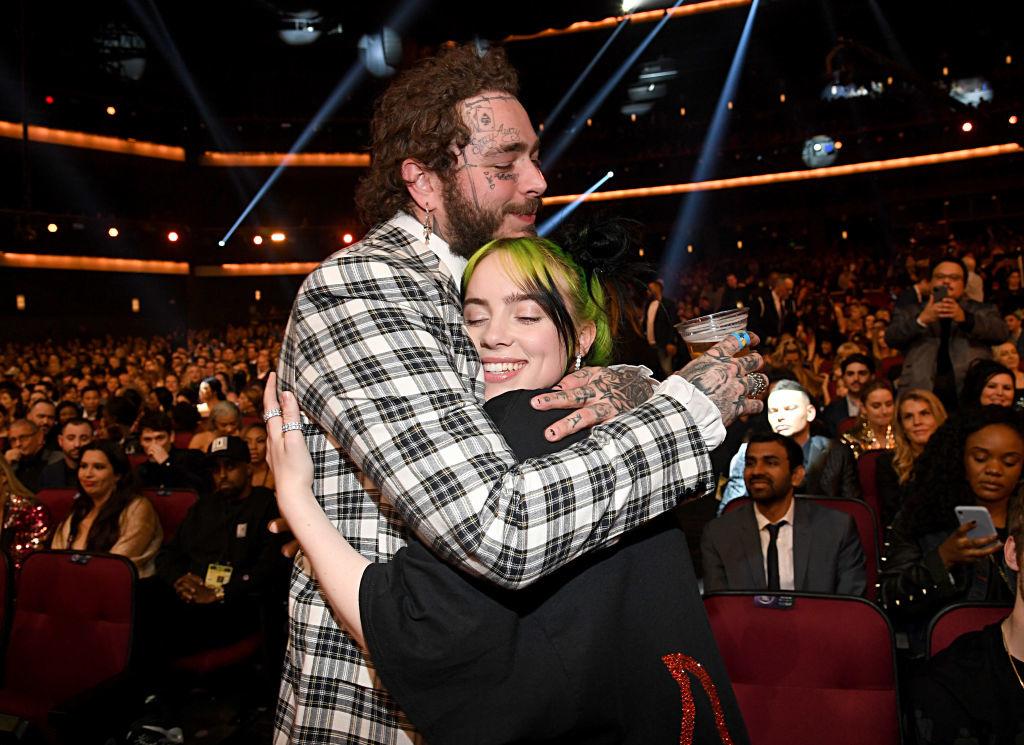 Post Malone et Billie Eilish, les deux artistes les plus écoutés au monde en 2019, Getty Images