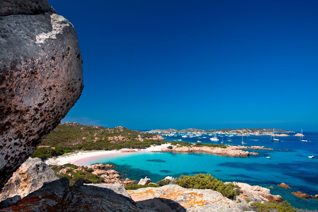 Spiaggia Rosa,Budelli, La Maddalena, Getty