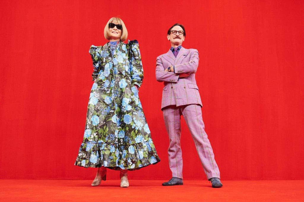 Anna Wintour et Hamish Bowles chez Balenciaga , Getty