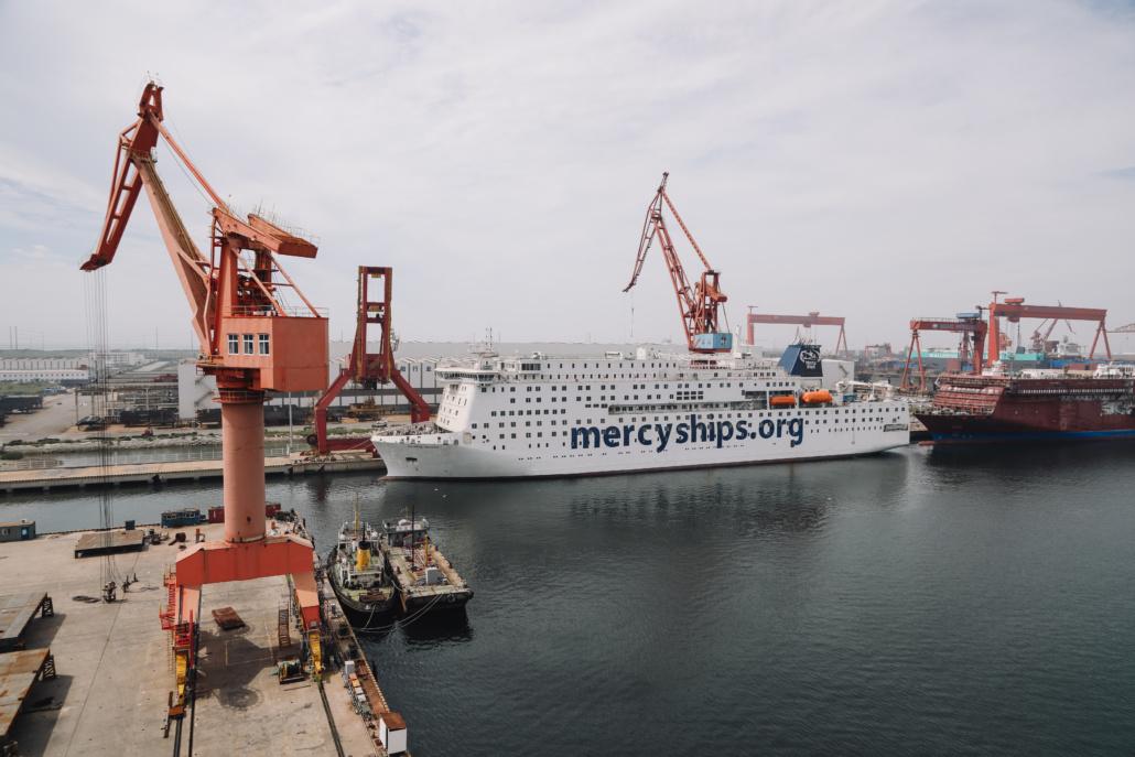 Lors de sa construction., Mercy Ships