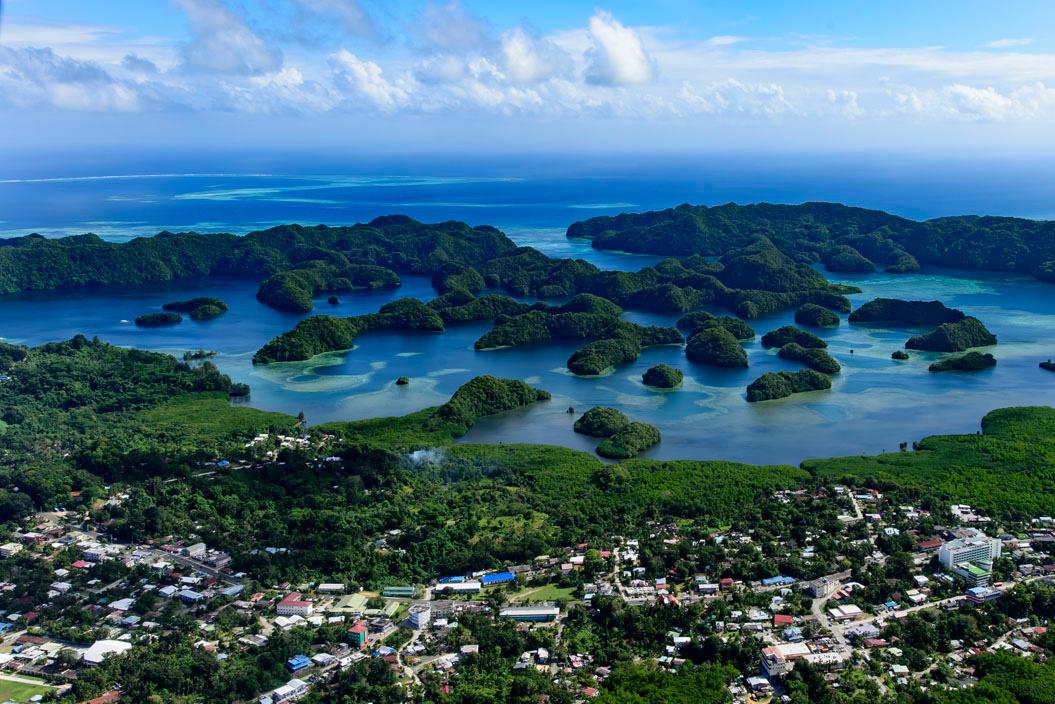 Vue sur la ville de Koror, sur les îles de Palaos, Getty Images