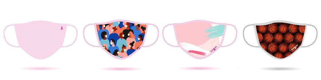 Bij de aankoop van minstens 1.000 stuks kunnen de mondmaskers gepersonaliseerd worden., Think Pink