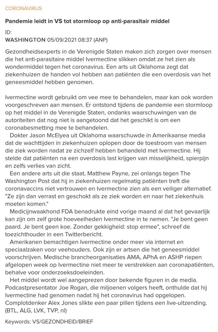 Belga/ANP
