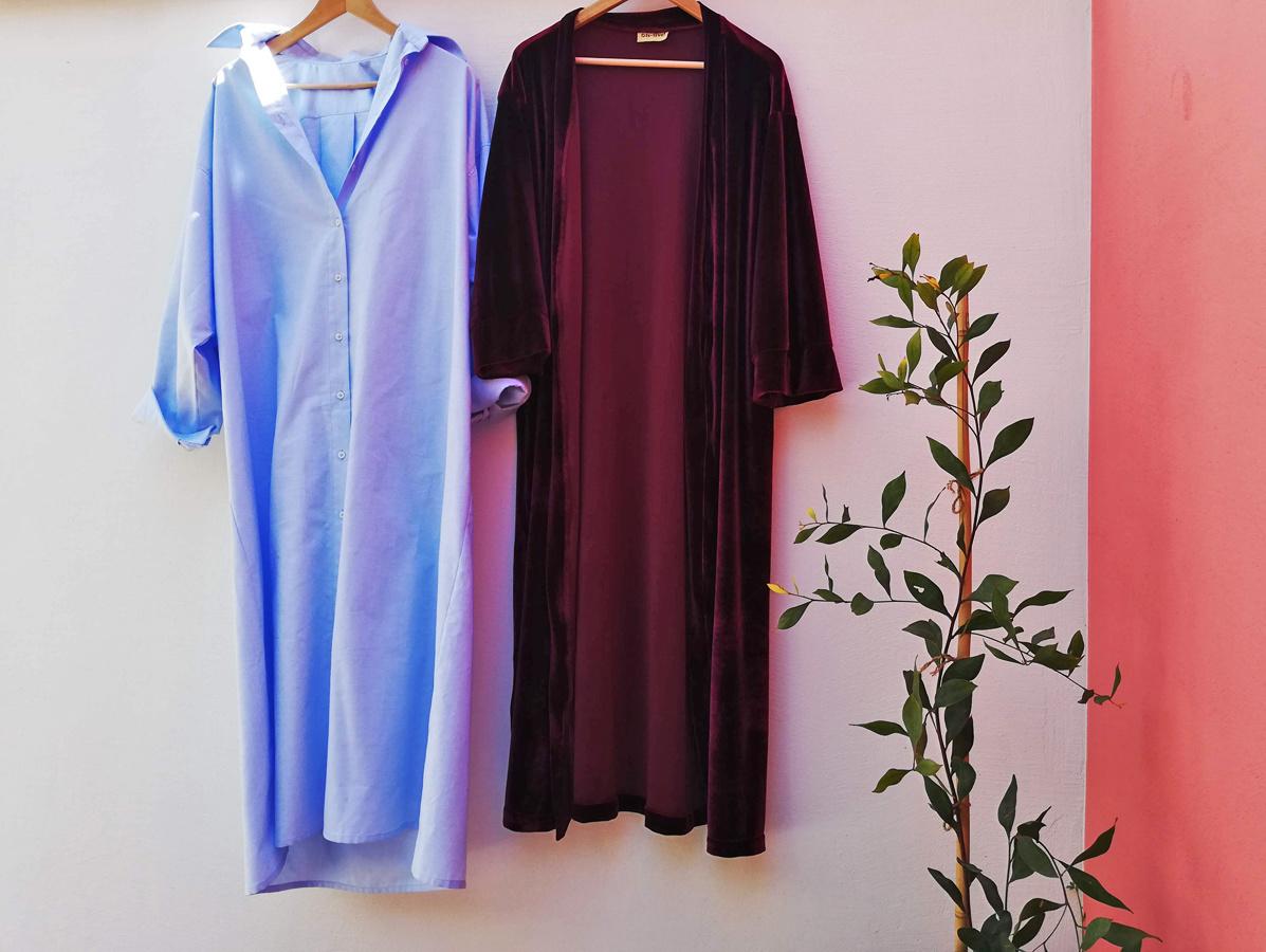 Twee kledingstukken die gehuurd werden bij Dressr, Lotte Philipsen