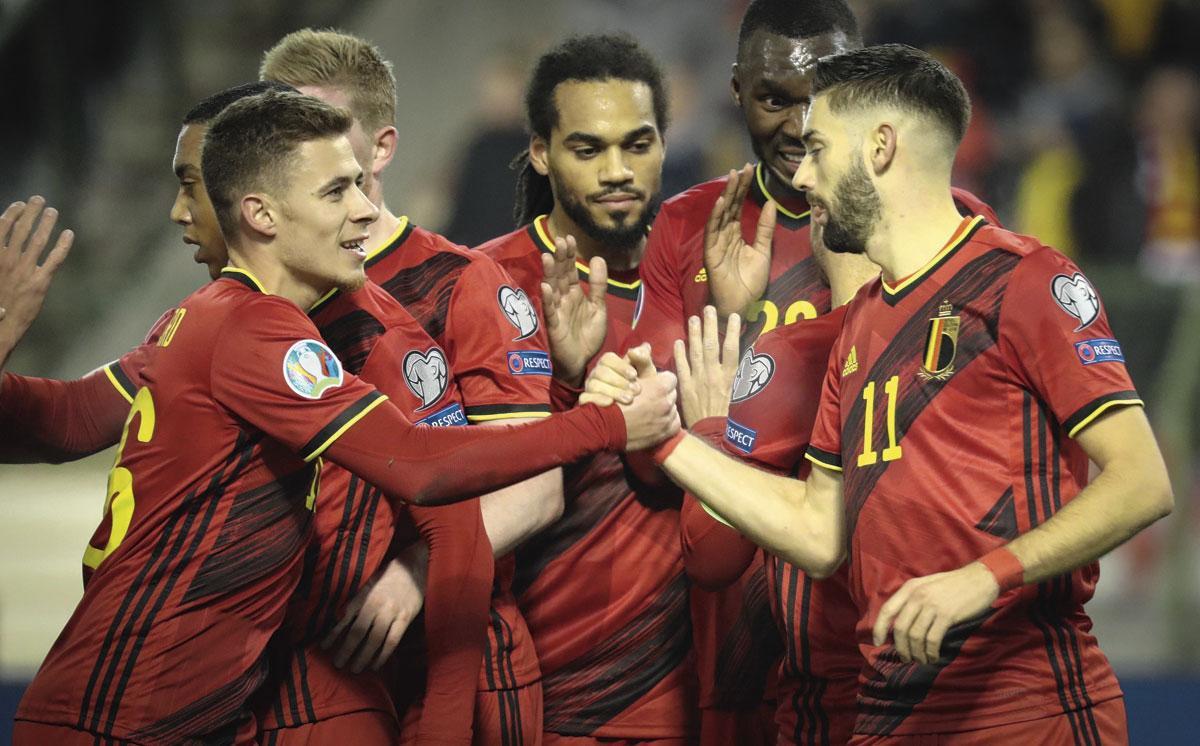 Thorgan Hazard est, avec Yannick Carrasco, le seul joueur de sa génération à être parvenu à se faire une place de titulaire en équipe nationale., BELGAIMAGE