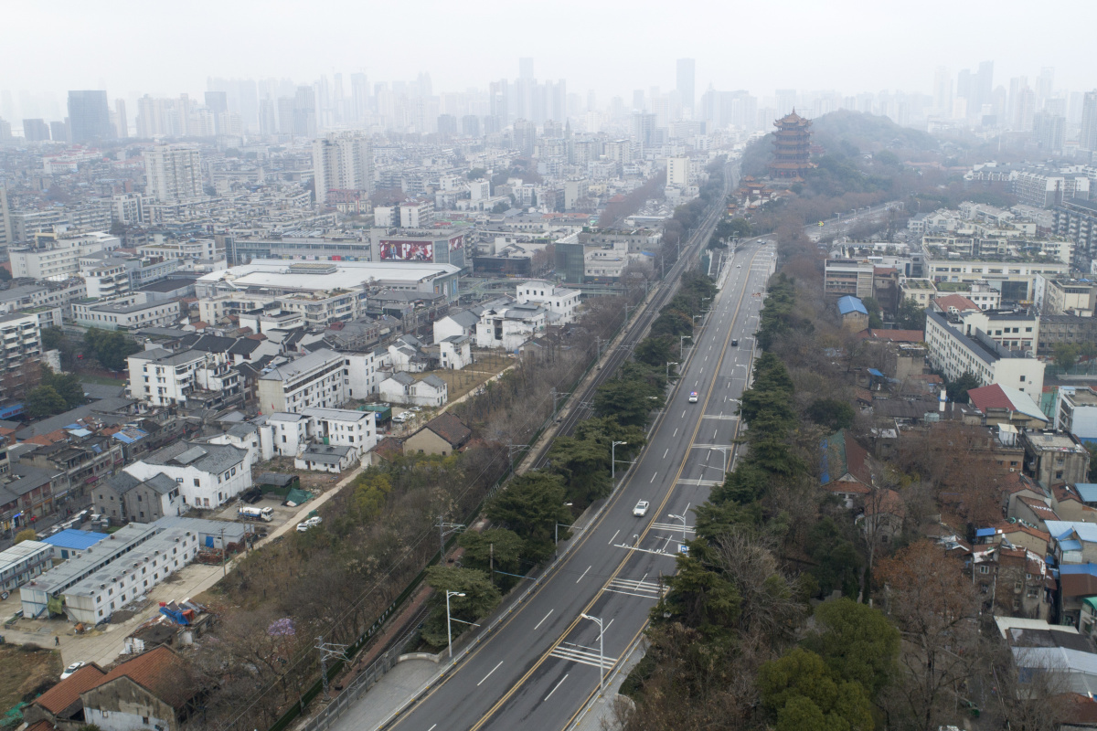 Uitgestorven Wuhan, AFP