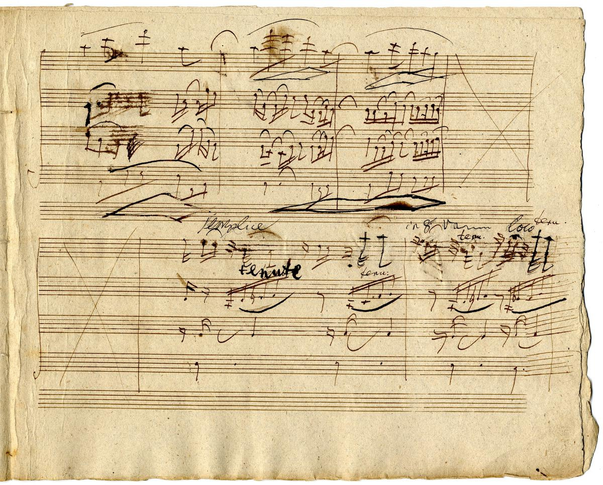 Ludwig van Beethoven, Third Movement of the Quartet in F Major, opus 135 (Lento assai e cantante tranquillo), 1826, Musée royal de Mariemont, Morlenwelz