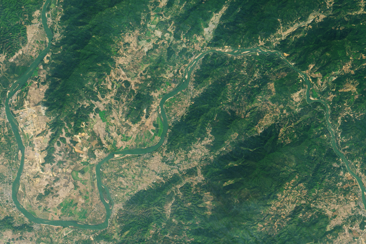 Mekong, 25 januari, 2020, NASA