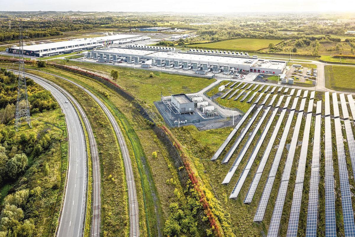 Het datacenter van Google in Saint-Ghislain.