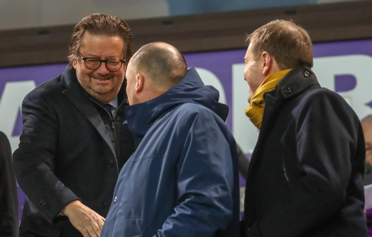 Marc Coucke, Wouter Vandenhaute en Karel Van Eetvelt kropen met Anderlecht door het oog van de naald., Belga