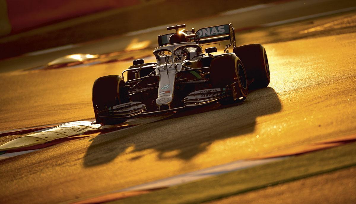 Mercedes rijdt voortaan met het INEOS-logo in de Formule 1., BELGAIMAGE